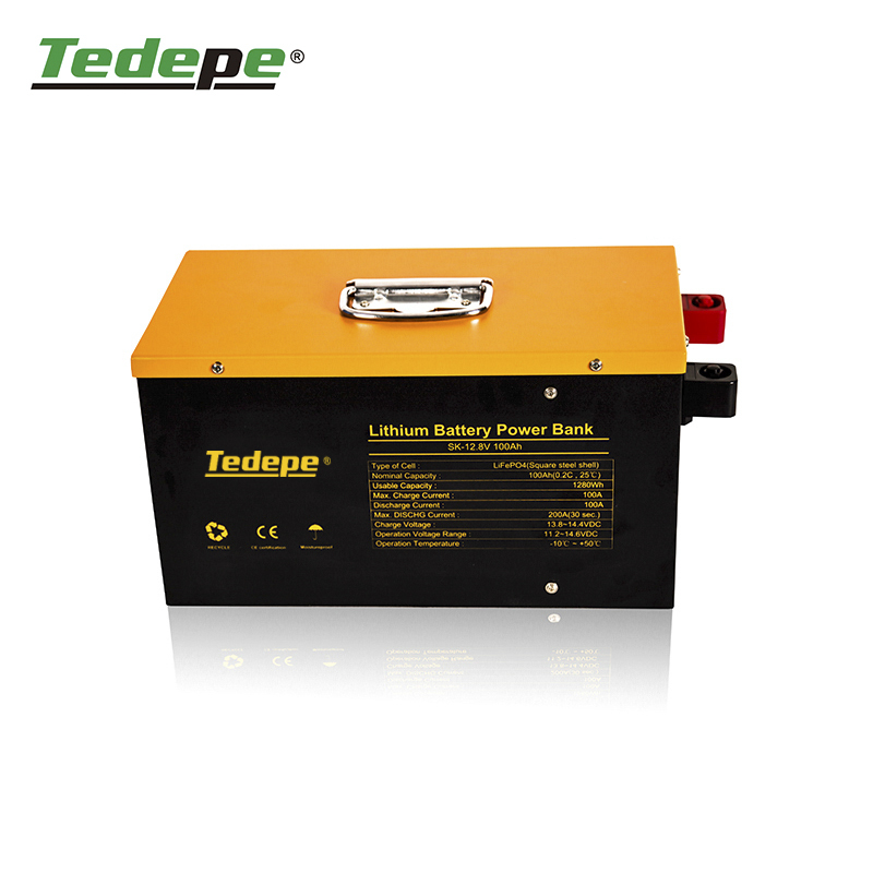 Lithium Battery 12V100AH With 100A BMS Charge And Discharge With  Equalizer  Solar Storage Manufacturer